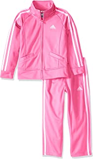 adidas Baby-Girls' Lil' Sport Tricot Pant & Jacket Active Clothing Set