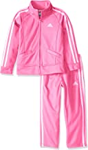 adidas Baby Girls' Li'l Tricot Pant and Jacket Active Clothing Set