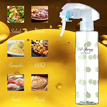 Olive Oil Sprayer Oil Mister Kitchen and Grill Cooking Oil Bottle Refillable Non-Aerosol (200ml/7oz)…