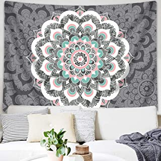 Sunm Boutique Tapestry Wall Hanging Indian Mandala Tapestry Bohemian Tapestry Hippie Tapestry Psychedelic Tapestry Wall Decor Dorm Decor(Colorful,51.2