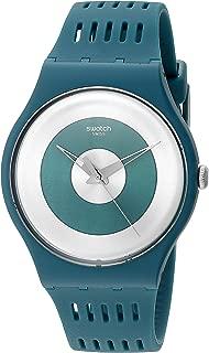 Swatch Unisex SUON114 Computerion Analog Display Quartz Green Watch