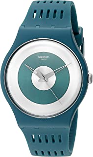 Swatch Unisex SUON114 Computerion Analog Display Quartz Green Watch