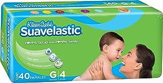 KleenBebé Pañal Desechable para Bebé Suavelastic, Unisex, Grande, 40 Cuentas