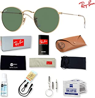f88c0605842 Ray-Ban RB3447 Round Metal Sunglasses for Men and Women with Deluxe  Accessories