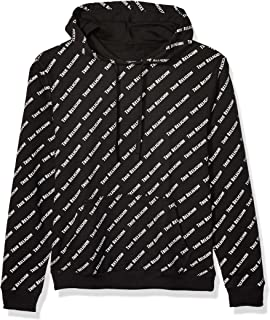 True Religion Men's Long Sleeve All Over Print French Terry Hoodie