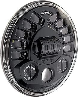 J.W. Speaker 0555011 Model 8790 LED High and Low Beam Adaptive Headlight with Black Inner Bezel