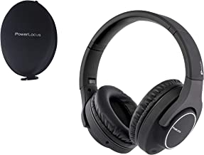 PowerLocus Wireless Bluetooth Headphones Over Ear Ptouch, [30H Battery Playtime] with Touch Pad Control Wired Headsets HD Stereo Foldable Headphones with Mic for iPhone, Samsung, PC, Laptops - Black