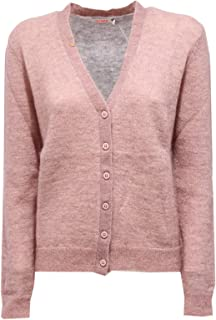 000de1e5001463 SUN 68 1492K Cardigan Donna Pink/Grey Kid Mohair/Wool Sweater Woman