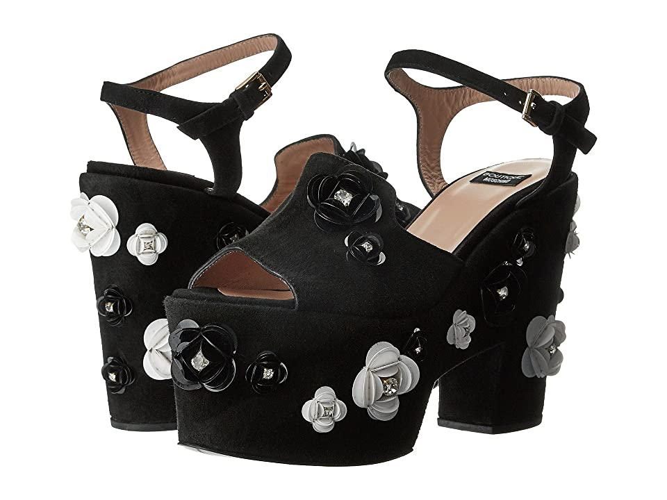 Boutique Moschino Embellished Platform Sandal (Black) Women