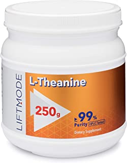 LiftMode L-Theanine Powder Supplement - for Focus, Stress Relief, Weight Loss, Pre Workout | Vegetarian, Vegan, Non-GMO, G...