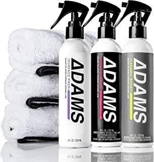 Adam's Ceramic Spray Coating 8 oz Complete Kit – A True Nano Ceramic Protection for Car, Boat & Motorcycle Paint – Top Coat Polish Sealant After Clay Bar, Polishing & Detail Car Wash (Complete Kit)
