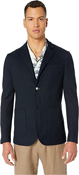 Knitted Blazer with Butterfly Pin