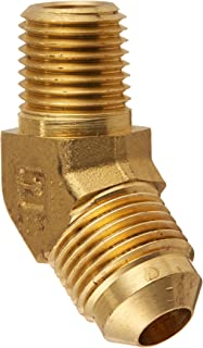 1//4 Flare Tube x 1//4 Flare Tube Parker Hannifin Corporation Pack of 20 Parker Hannifin 144F-4-pk20 Union Tee 1//4 Flare Tube x 1//4 Flare Tube 45 Degree Flare Fitting Brass