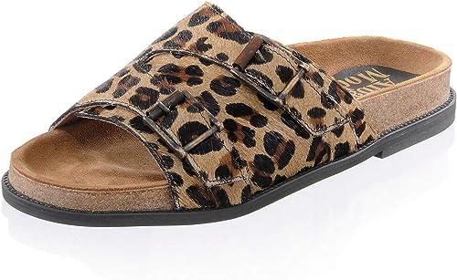 Alba Moda Damen Pantolette in in in Leo-Muster  mit günstigen Preis Top-Marke zu bekommen