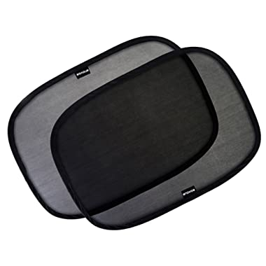 Enovoe Car Window Shade - (2 Pack) - 21 x14  Cling Sunshade for Car Windows - Sun, Glare and UV Rays Protection for Your Child - Baby Side Window Car Sun Shades