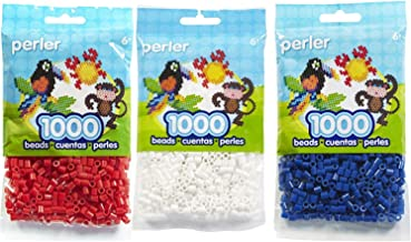 1000 Count, Replacement Fuse Beads in American Flag (White/Red/Dark Blue)