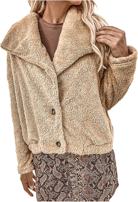 Women Fleece Coat Thick Sherpa Long Overcoa Fuzzy Jackets Sleeve favorite Max 67% OFF
