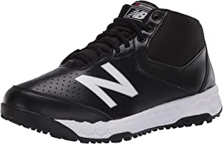 New Balance Men's 950V3 Mid-Cut Baseball Shoe, Black/White, 16 D US