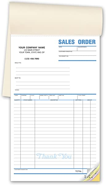 CheckSimple Multi Purpose Sales Receipt Book Customized X Large Format 2 Part Forms White 6 1 2 X 10 1 2 250 Forms