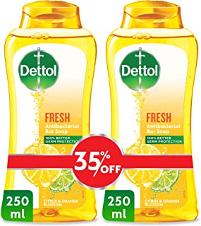 Dettol Fresh Anti-bacterial Body Wash 250ml Twin Pack