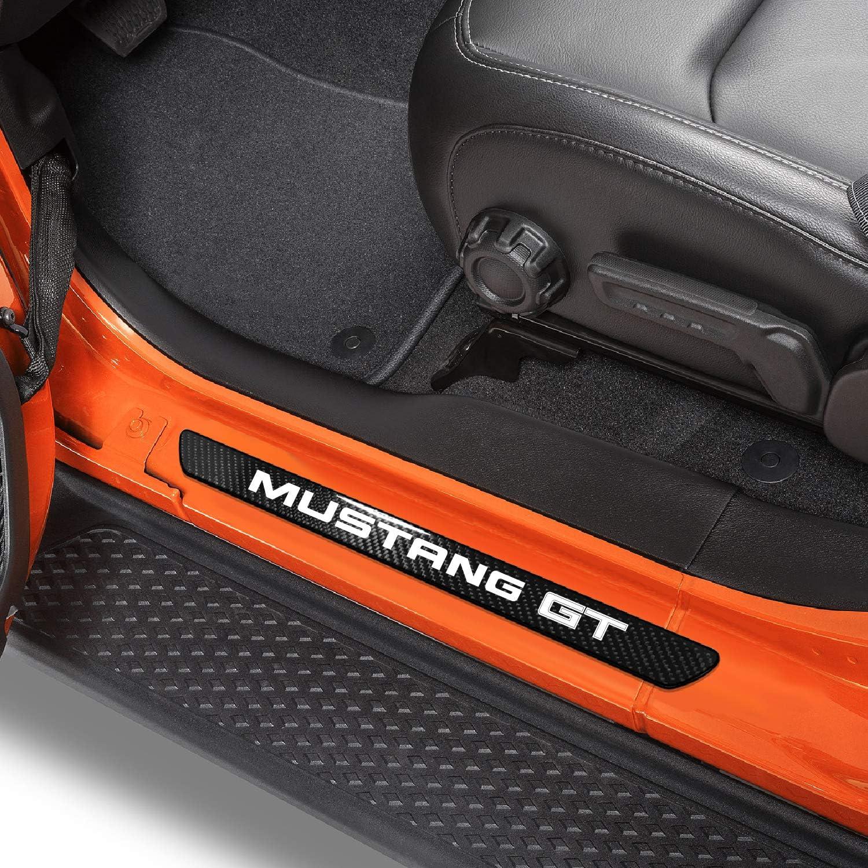 iPick Image Black Real Carbon Fiber Pcs Sill St Deluxe Door Universal 4 Sale special price