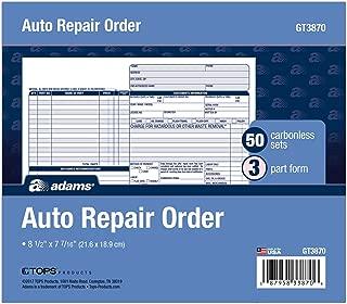 automotive shop invoices