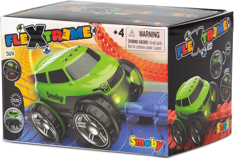 coche con carcasa intercambiable y luces para la pista Flextrem Coche verde con luz Flextreme Smoby 180905 web
