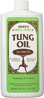HOPE'S 100% Tung Oil 16 oz-Pt, Green, 16 Fl Oz