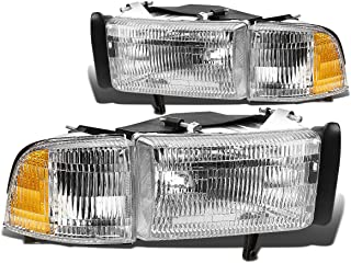 For Dodge Ram BR/BE w/o Sport Pair of OE Replacement Headlight + Corner Light