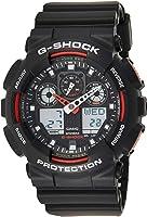 Casio Mens Quartz Watch, Analog-Digital Display and Plastic Strap GA100-1A4