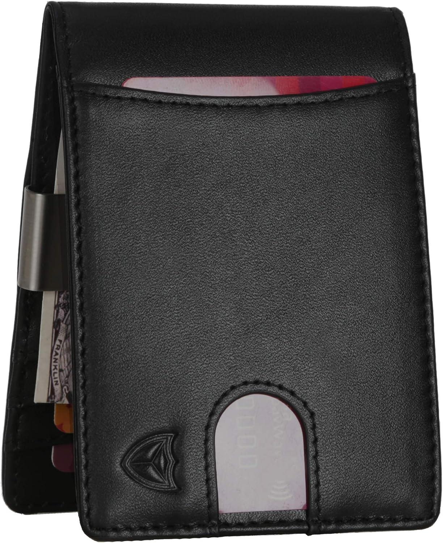 Money Clip Wallet for Men RFID Slim Card Holder Big (Black)