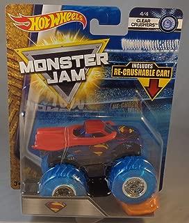 HW 2018 Hot Wheels Monster Jam Superman 4/4 Clear Crushers Re-Crushable Car