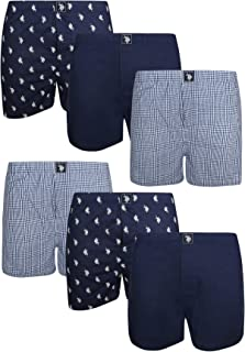 U.S. Polo Assn. Men's Cotton Woven Boxers with Functional Fly (6 Pack)