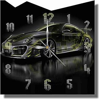Art time production Automotive Josh Porsche 911 Turbo 11'' Handmade Wall Clock - Get Unique décor for Home or Office – Best Gift Ideas for Kids, Friends, Parents and Your Soul Mates.