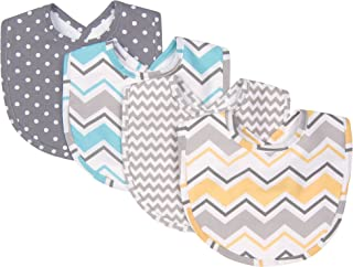 Trend Lab Zigzag Bouquet 4 Piece Bib Set