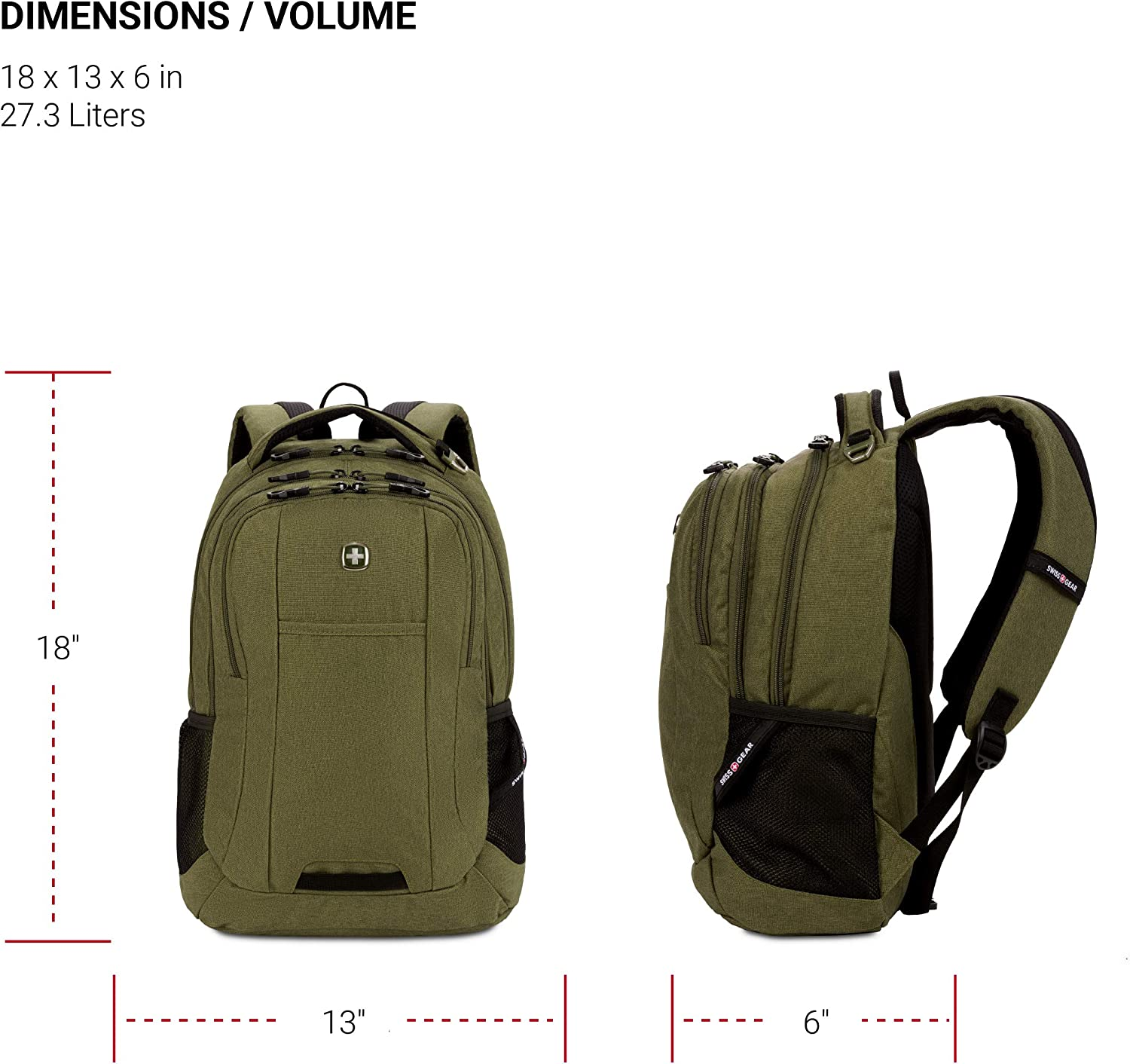 SwissGear Cecil 5505 Laptop Backpack (Olive)