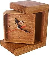 Reloj de Sobremesa de Madera Hecho a Mano con Suave Marcha