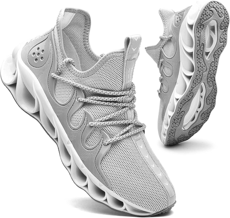 Topics on TV Mens Running Sneakers 2021 Slip on Work Tennis Shoes Walking Comfort