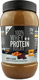ONTOP CREMA DE CACAHUATE CON CACAO + WHEY PROTEIN ISOLATE