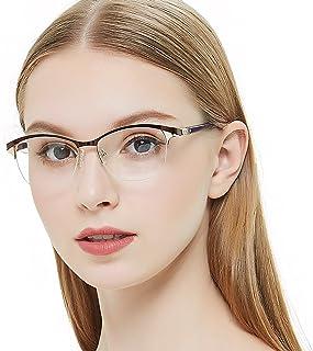 b4150ad73d OCCI CHIARI Marco de anteojos con decoración de metal flexible bisagra de  resorte para mujeres