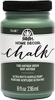 FolkArt, Antique Green Assorted Home Décor 8 fl oz / 236 ml Acrylic Chalk Paint For Easy To Apply DIY Arts And Crafts, Ult...