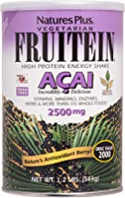 Nature s Plus Fruitein Acai Shake – 544g Vegetarian Protein Powder – 2500 mg Acai Berry Plant Based Meal Replacement Antioxidant – Gluten Free – 16 Servings Estimated Price : £ 24,50