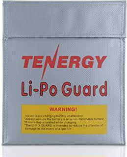Tenergy Lipo Bag, Fireproof and Explosion-Proof Lipo Battery Bag for Safe Charging and Storage, 7x9inches