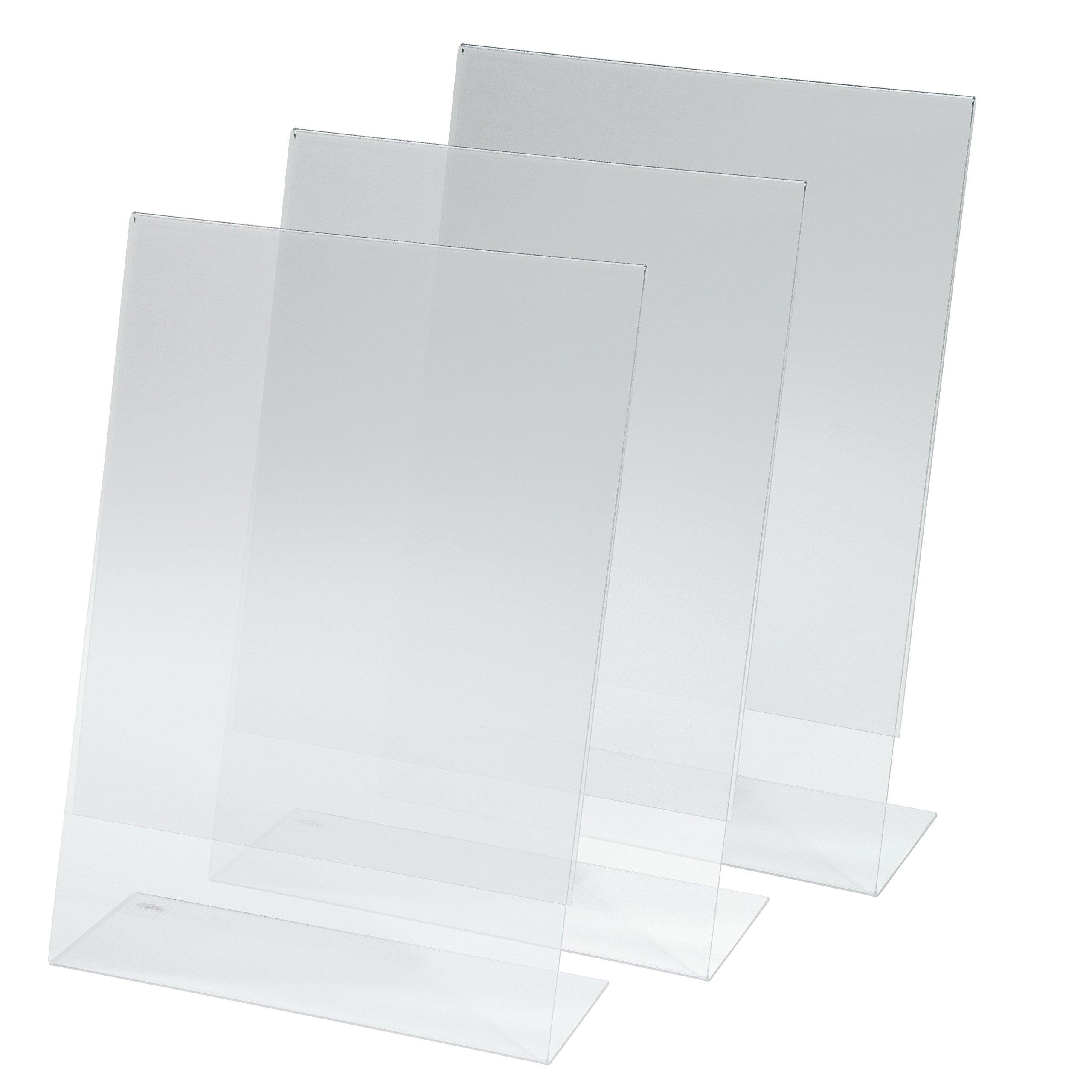 5 pz. a tettuccio Sigel TA130 Portanome da tavolo per 240x90 mm trasparente