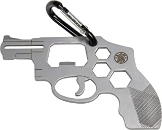 S&W Revolver Novelty Multi-Tool Carabiner with Durable, Compact Stainless Steel Construction for Tactical, Gunsmithing and...