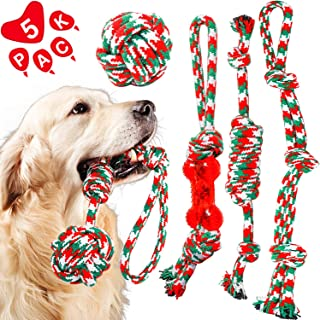 HETOO Dog Rope Chew Toys Pack for Small Medium Dogs Puppy Training Playing Teething Cleaning