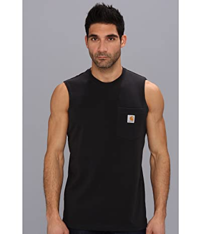 Carhartt Workwear Pocket Sleeveless T-Shirt (Black) Men