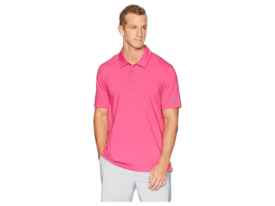 adidas Golf Ultimate Solid Polo (Real Magenta) Men