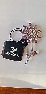 swarovski rose pin