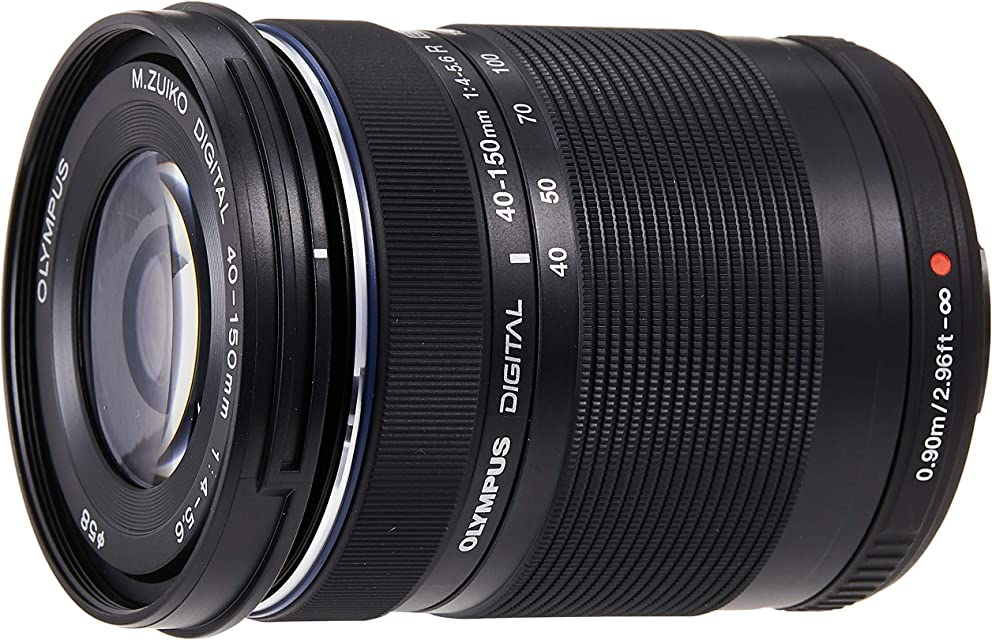 Objetivo Olympus M.Zuiko Digital ED 40 - 150mm F4 - 5.6 teleobjetivo adecuado para todas las cámaras MFT (modelos Olympus OM-D & PEN serie G de Panasonic) negro